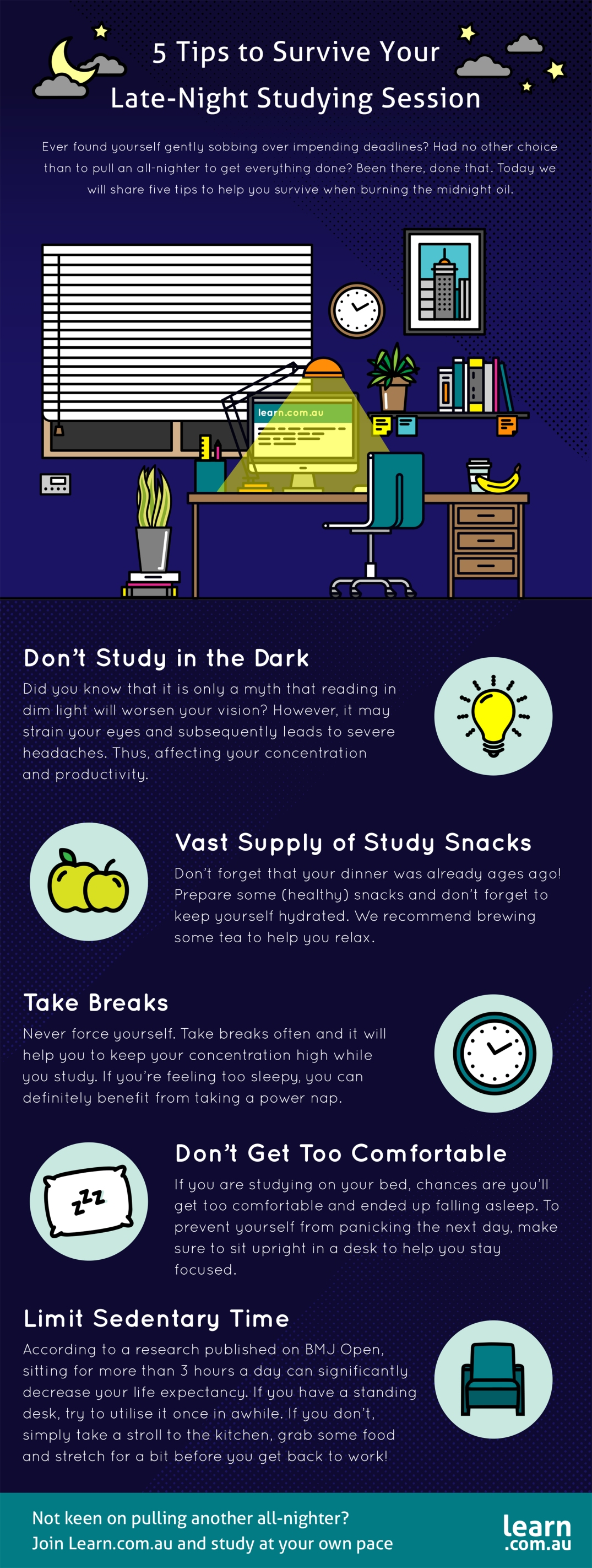 infographic late night studyin g